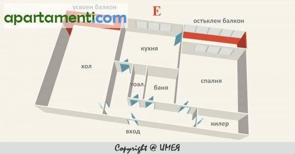 Двустаен апартамент, София, Свобода 14
