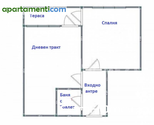 Двустаен апартамент Варна Спортна Зала 7
