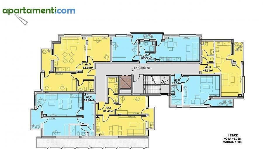 Двустаен апартамент Бургас Изгрев 2